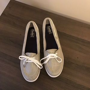 *NEW* KEDS Ortholite Tan Boat Shoe Slip Ons